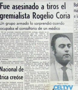 Asesinato Coria
