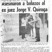 Nota asesinato Juez Quiroga