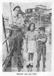 Masetti con sus hijos