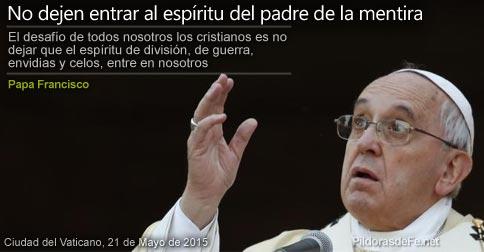 Papa Francisco y la mentira