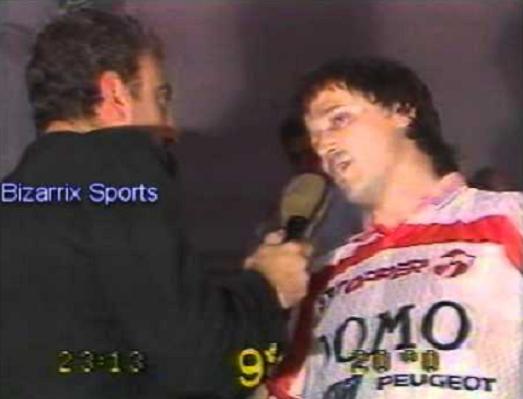 De Bonis entrevistando a Bertoni