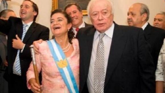 Armando -Bombón- Mercado y Lucía Corpacci