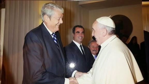 El Papa y Carlos Kunkel