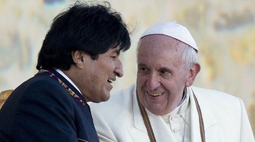 El Papa y Evo Morales
