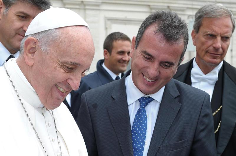 El Papa y Francisco Pérez