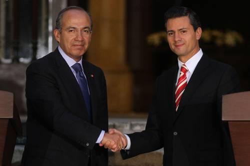Felipe Calderón Hinojosa y Enrique Peña Nieto