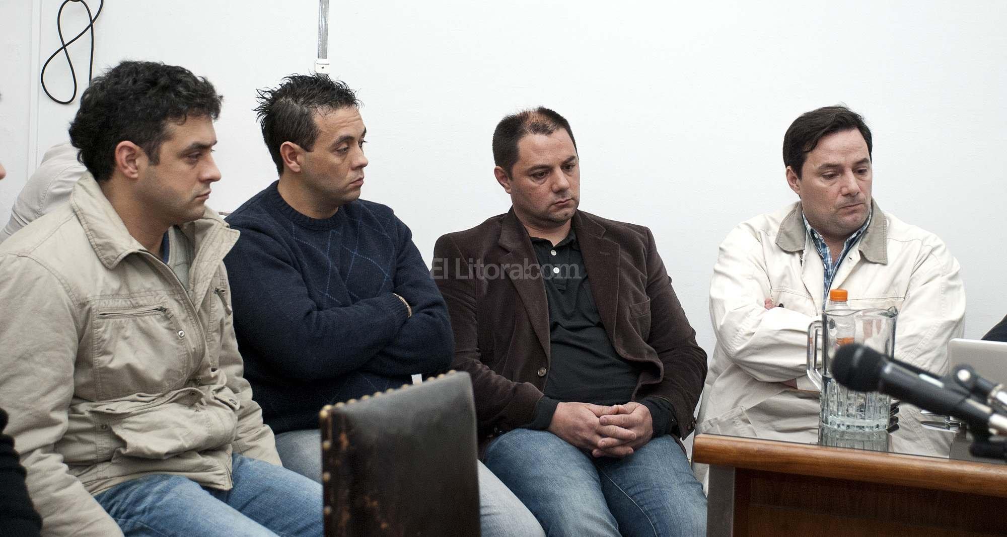Hermanos Víctor y Marcelo Schillaci y los hermanos Cristian y Martín Lanatta.